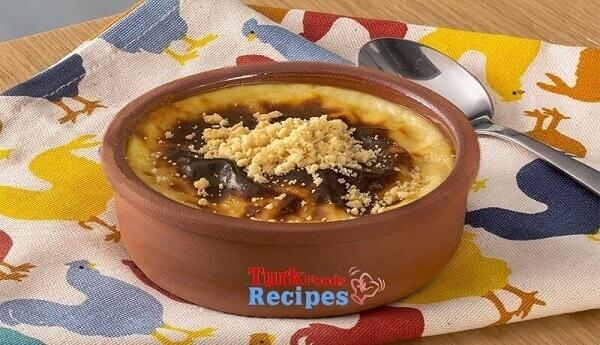 Baked Rice Pudding Sütlaç Recipe. Turkish Sütlaç. Sütlaç dessert.