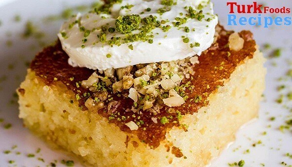 Turkish Revani Dessert