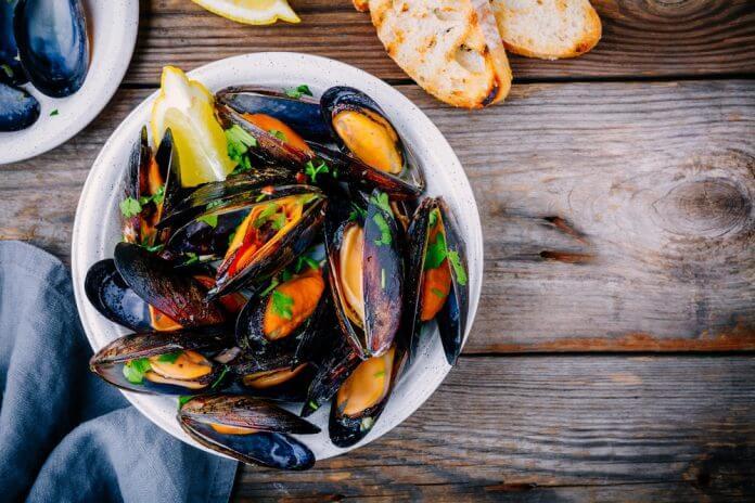 Stuffed mussels Turkish Street Food
