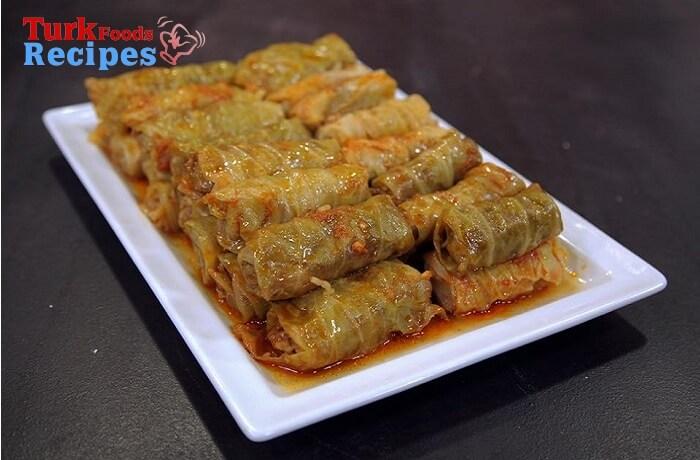 Beef Stuffed Cabbage Recipe. Turkish Food Recipes.
