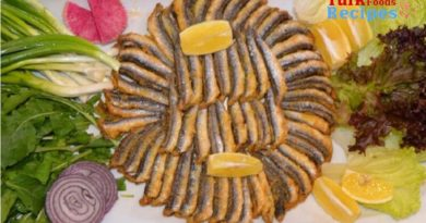Ingredients for Baked Anchovy Recipe