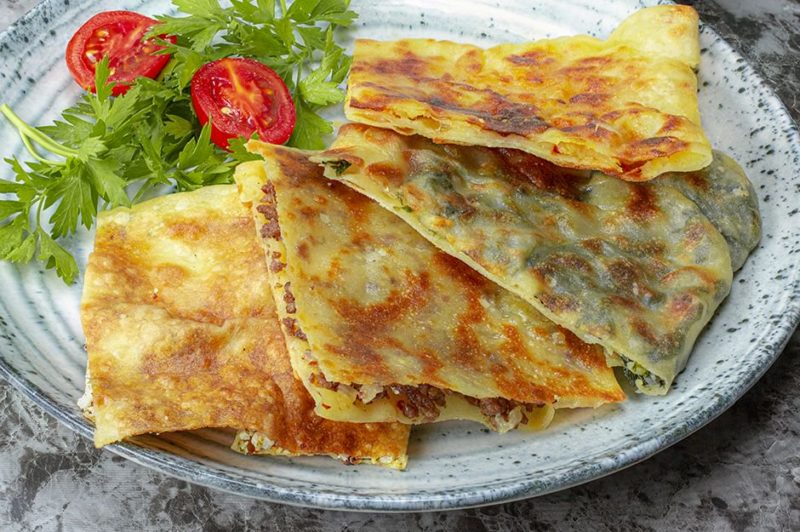 [Homemade] 4 Types of Gozleme Recipe.Turkish Pastries Recipes. Turkish Recipes