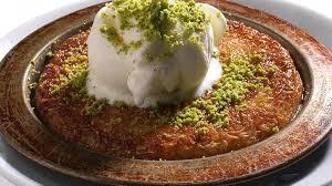 Kunefe Recipe with Antep ice cream.