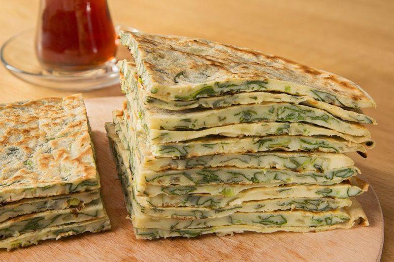 Spinach Kaygana Recipe. Turkish  Pastries Recipes. Turkish Recipes