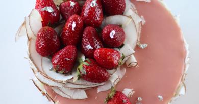 Strawberry, Peanut, Coconut and Matcha Entremet Cake. Yummy Easy Entremet Cake. Easy entremet recipe How to make Entremet cake at home. Entremet Preparation