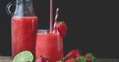 Making Strawberry Juice . At Home Step By Step. How to make Strawberry Juice.