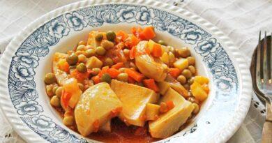Peas with Artichoke Meal Recipe. Turkish Vegan Food Recipes