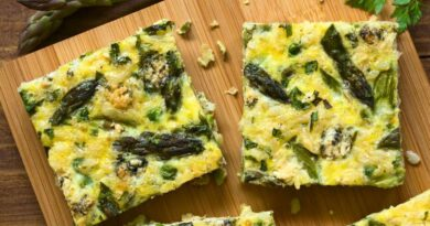 Omelette Recipe with Asparagus in The Oven